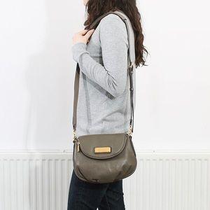 MBMJ cross body classic Q Fran leather purse grey